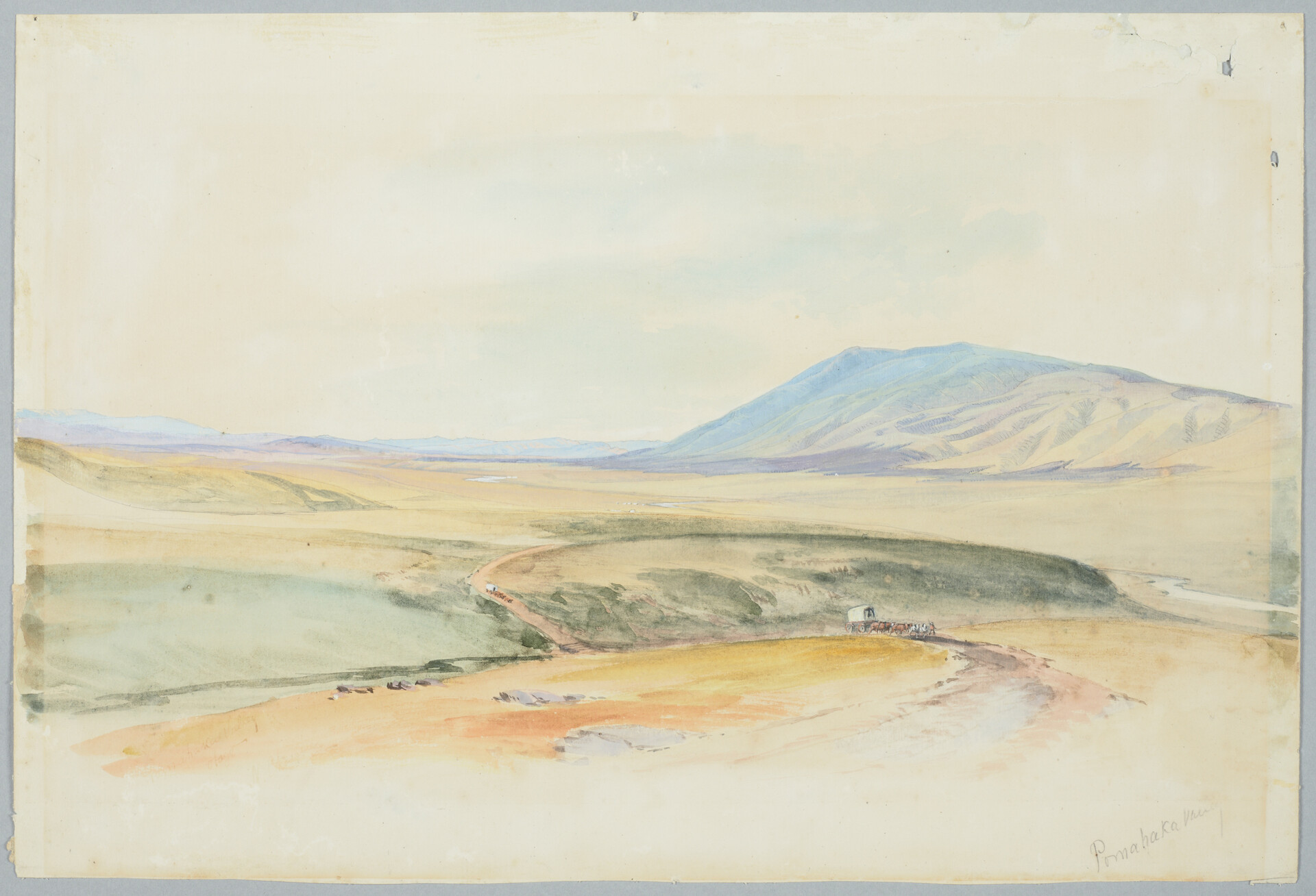 Pomahaka Valley - Nicholas Chevalier Watercolour