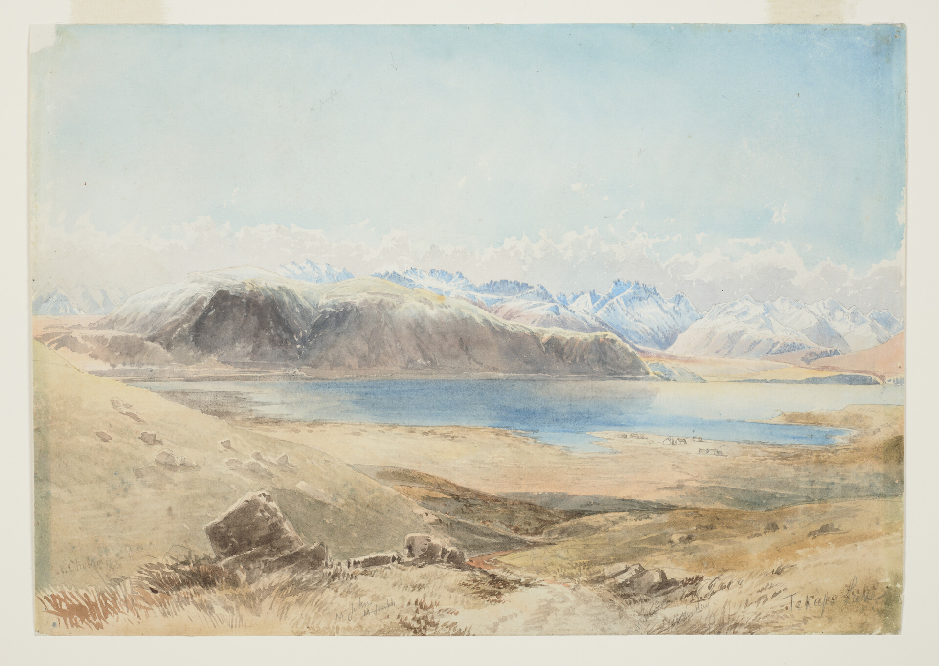 Lake Tekapo - Nicholas Chevalier Watercolour