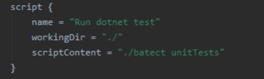 TeamCity script build step