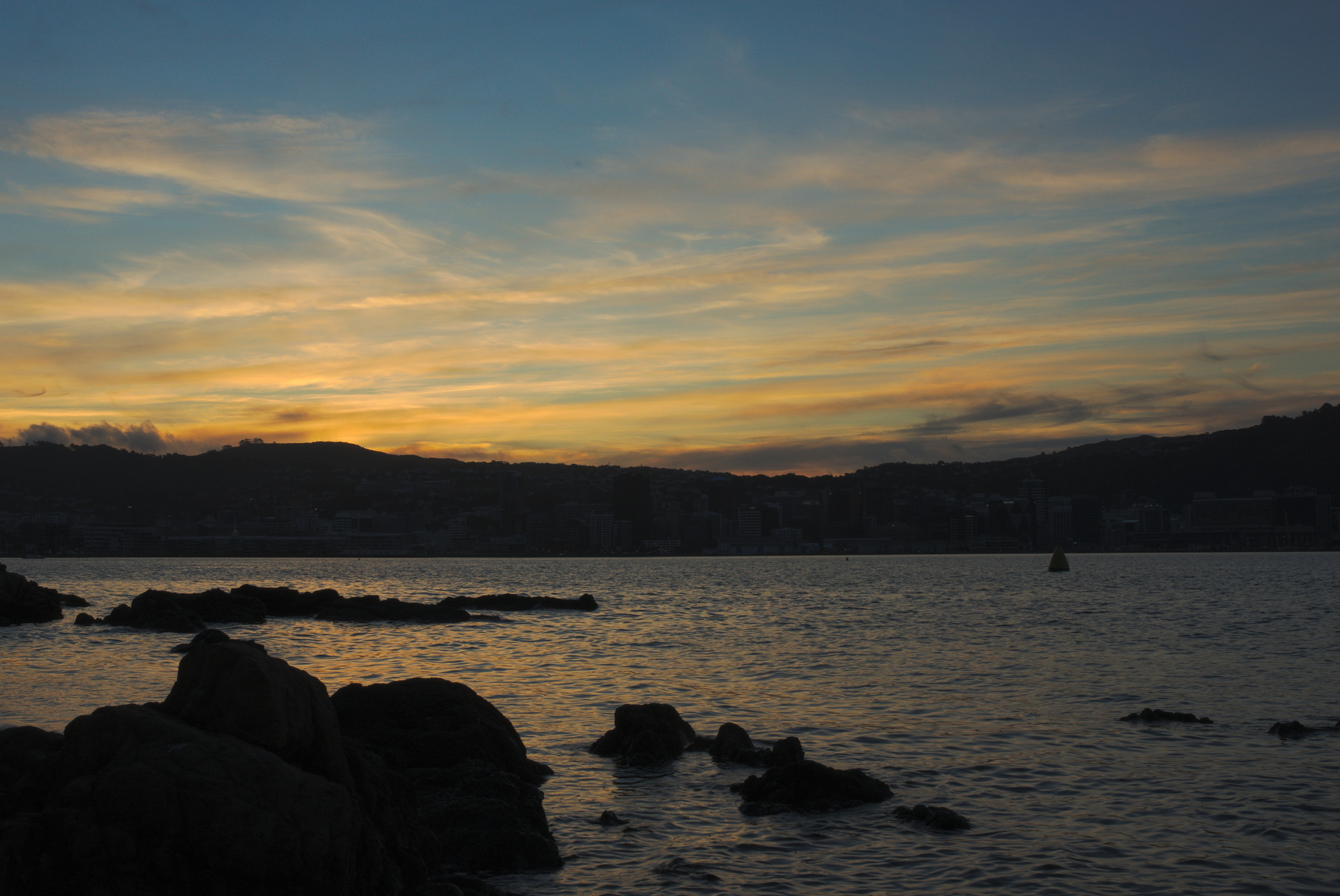 The evening started with a sunset over Wellington