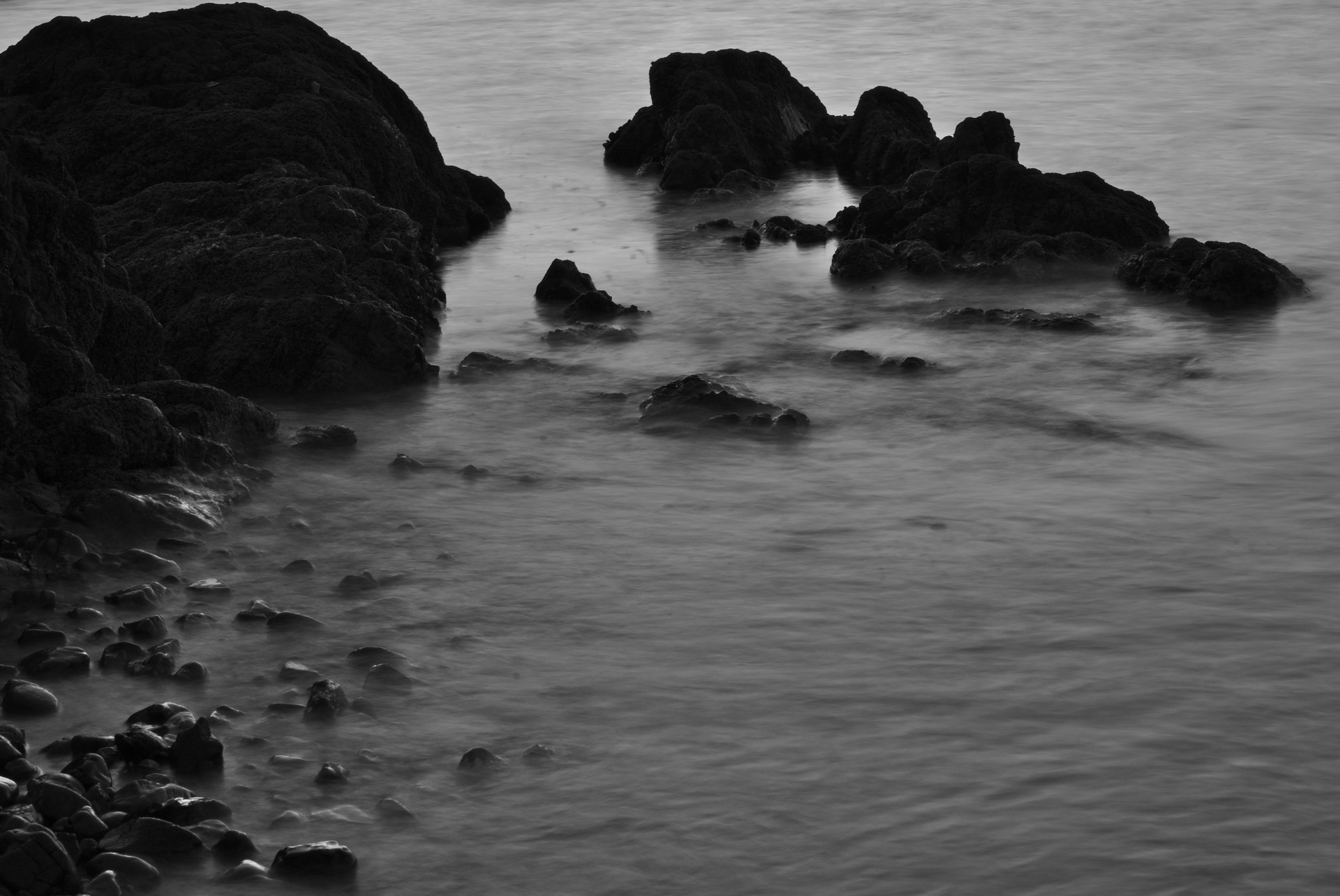 Fading light lends well to rock pools
