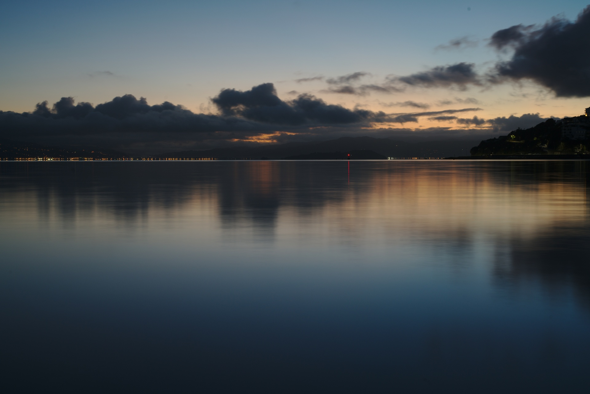 Blue hour over Oriental Bay